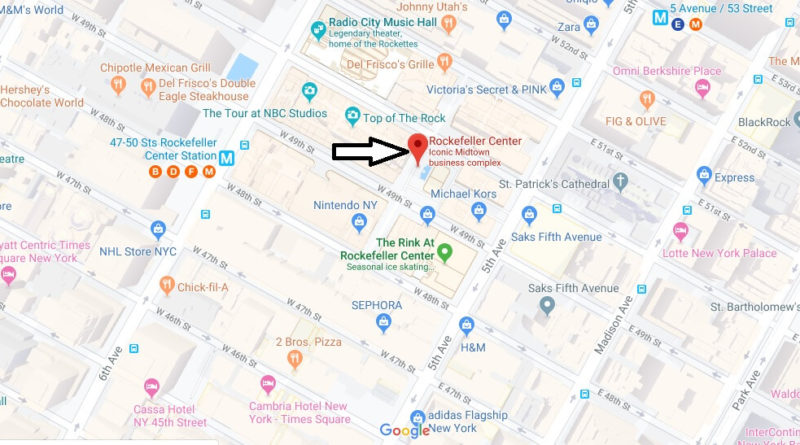 Where is Rockefeller Center Located? What street is Rockefeller Center on?