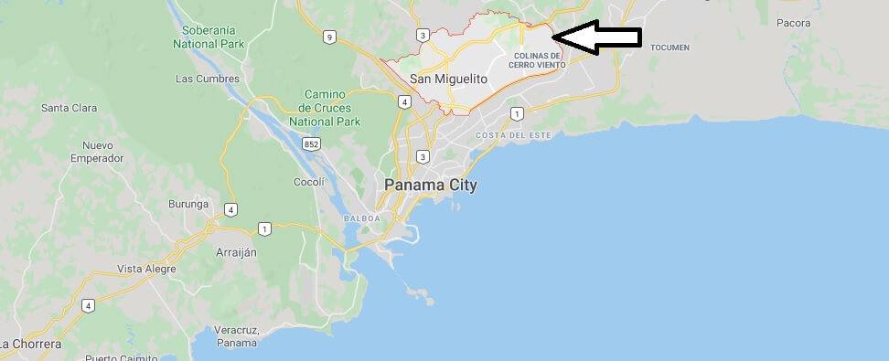 Where is San Miguelito (Panama) Located? What Country is San Miguelito in? San Miguelito Map