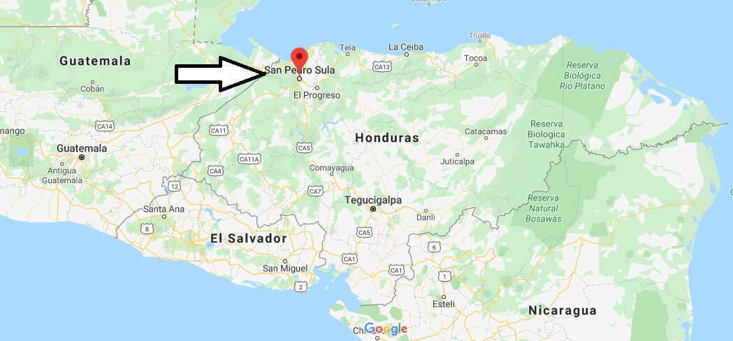 Where is San Pedro Sula Located? What Country is San Pedro Sula in? San Pedro Sula Map