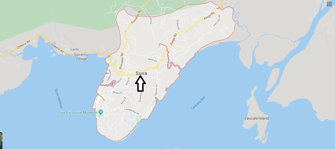 Where is Suva Located? What Country is Suva in? Suva Map