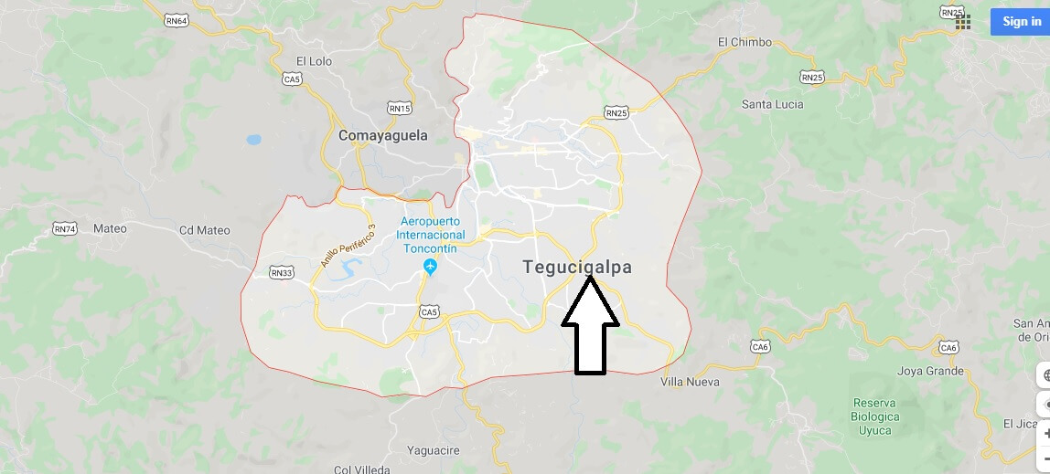 Where is Tegucigalpa Located? What Country is Tegucigalpa in? Tegucigalpa Map