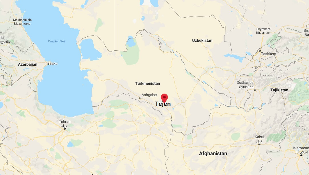 Where is Tejen Located? What Country is Tejen in? Tejen Map