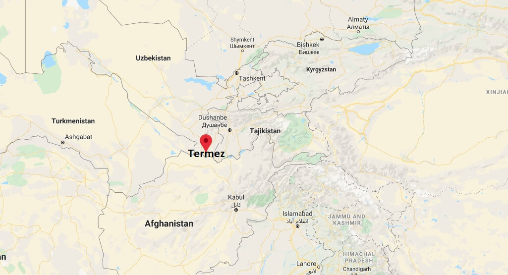 Where is Termez Located? What Country is Termez in? Termez Map
