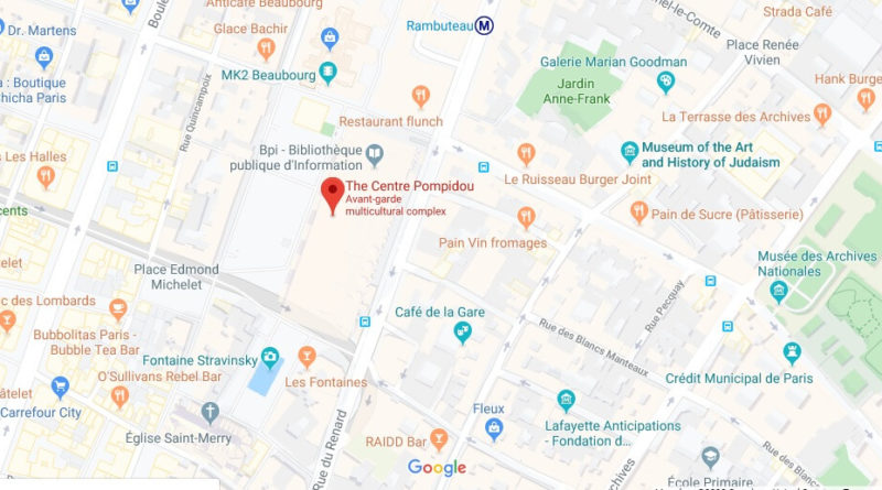 Where is The Centre Pompidou Located? What Country is The Centre Pompidou in? The Centre Pompidou Map
