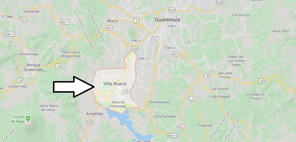 Where is Villa Nueva Located? What Country is Villa Nueva in? Villa Nueva Map