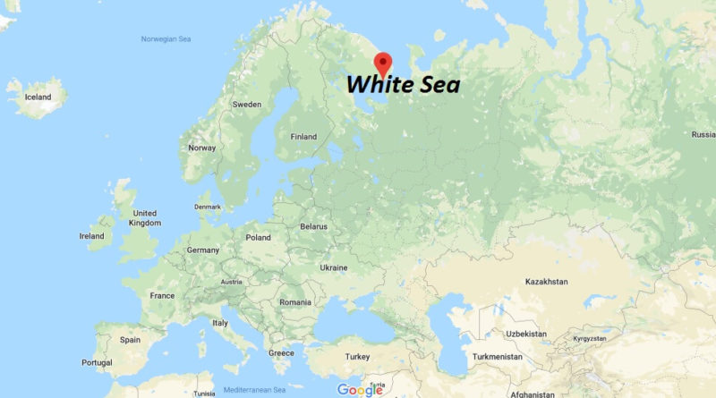 Where is White Sea situated? Why is it called the White Sea?