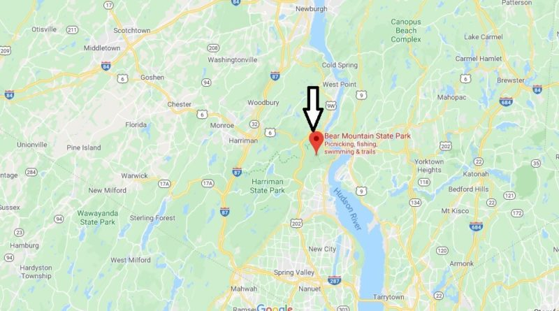 Where is Bear Mountain State Park? How far is Bear Mountain State Park from NYC?