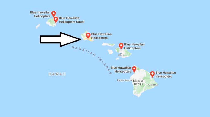 Where is Blue Hawaiian Helicopters? Which Hawaiian island is best for a helicopter tour?