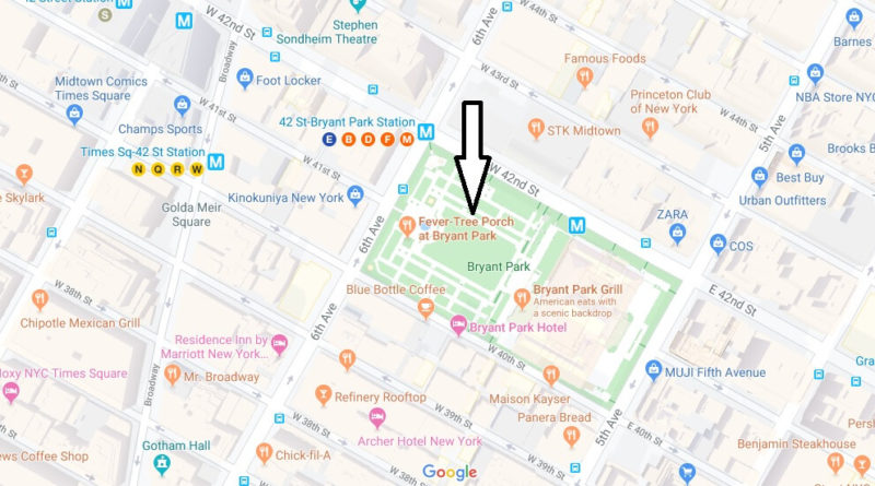 Where is Bryant Park? Why is Bryant Park famous?