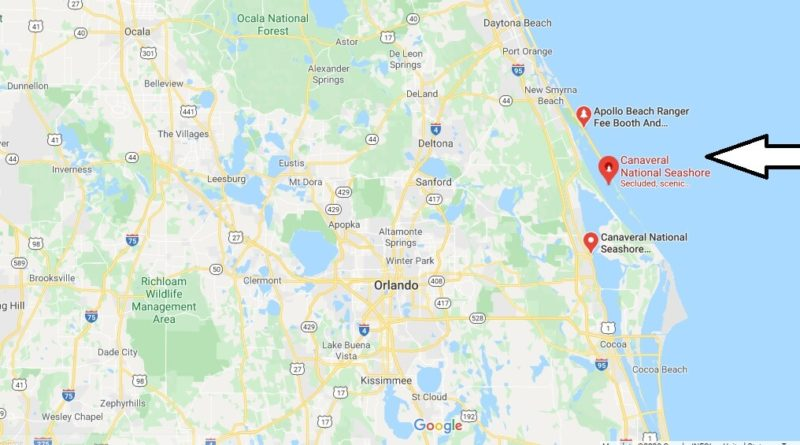Where is Canaveral National Seashore? What state is Canaveral National Seashore?