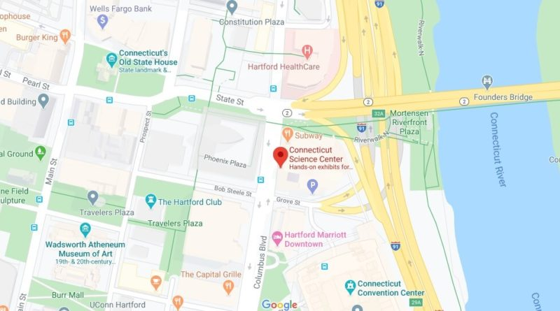 Where is Connecticut Science Center? How much is the Connecticut Science Center?