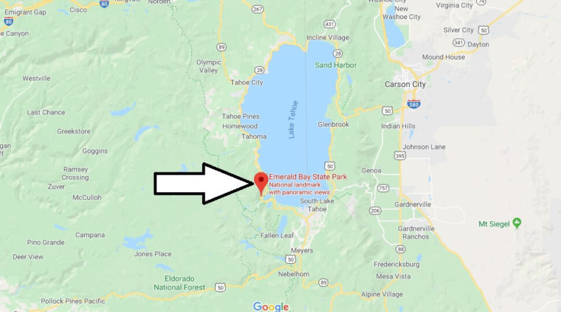 Where is Emerald Bay State Park? Is Emerald Bay in North or South Lake Tahoe?