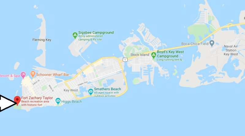Where is Fort Zachary Taylor Historic State Park? How much does it cost to get into Fort Zachary Taylor?