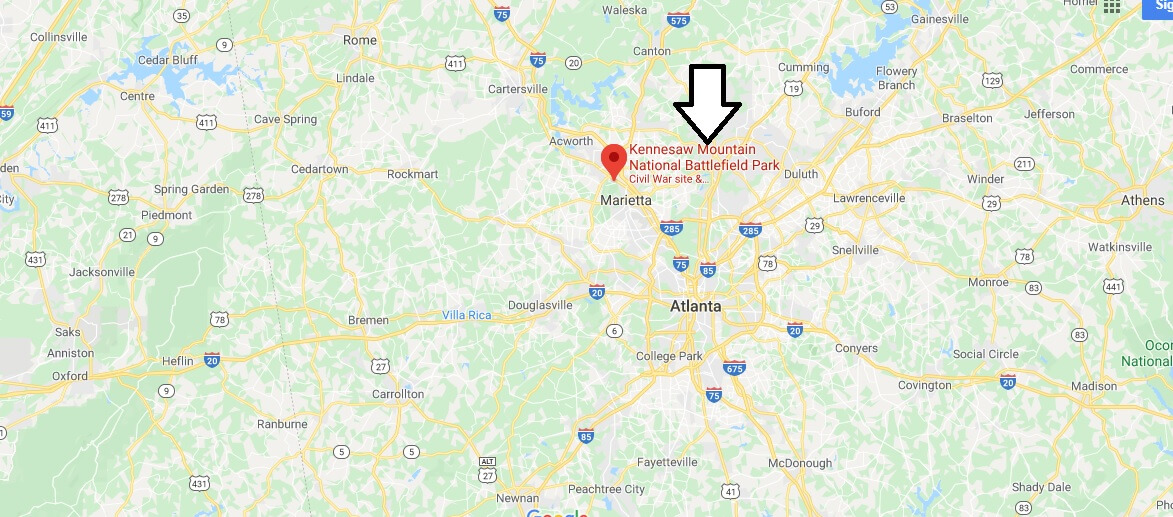 Where is Kennesaw Mountain National Battlefield Park?