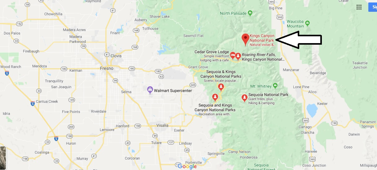 Where is Kings Canyon National Park? What city is Kings Canyon National Park in?