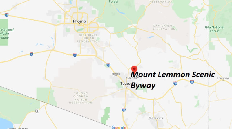 Where is Mount Lemmon Scenic Byway? How do I get to Mount Lemmon from Scenic Byway?