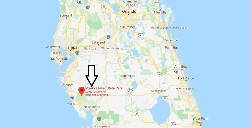 Where is Myakka River State Park? How much does it cost to get into Myakka State Park?