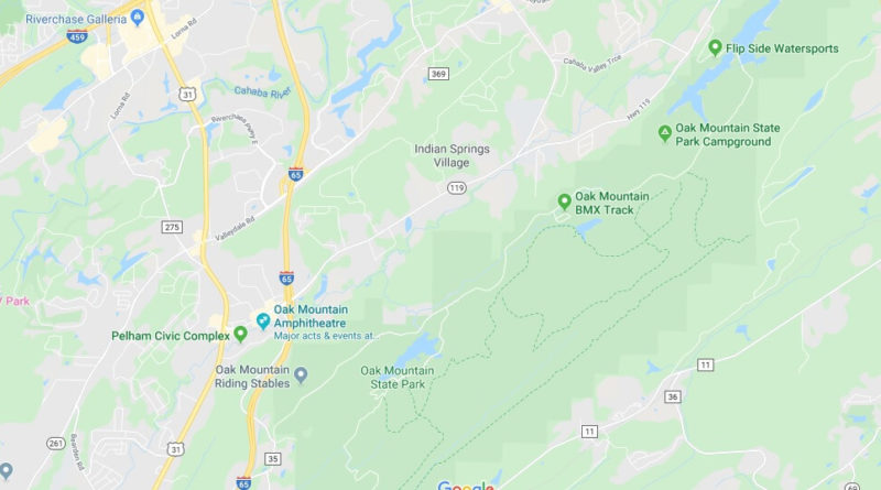 Where is Oak Mountain State Park? How far is Oak Mountain State Park?