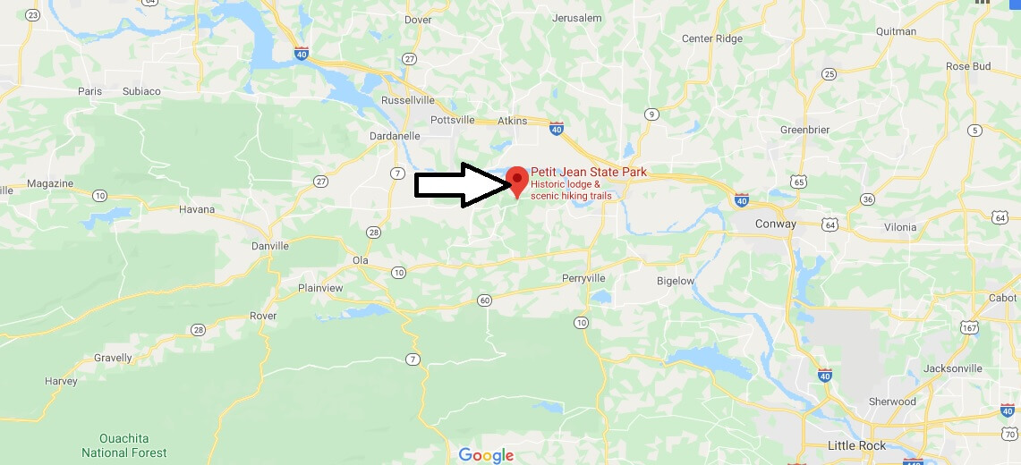 Where is Petit Jean State Park? What can you do at Petit Jean State Park?