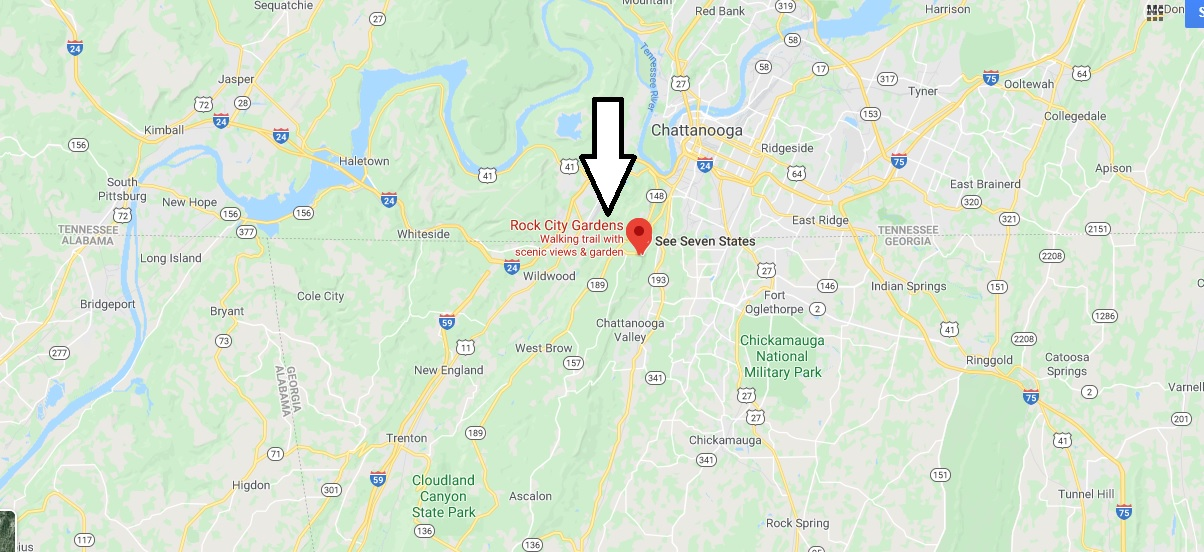 Where is Rock City Gardens? Is Rock City the same as Lookout Mountain?