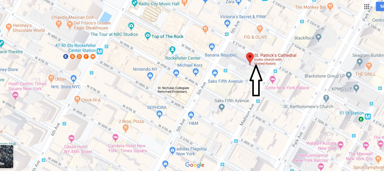 Where is St. Patrick's Cathedral? What street is St Patrick's Cathedral on?