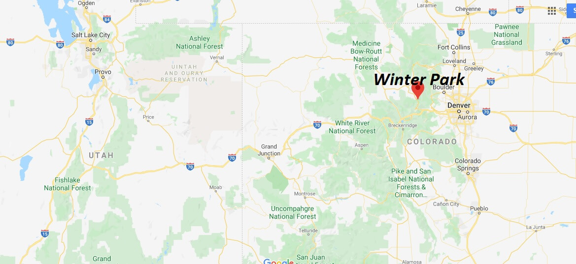 Where is Winter Park Colorado? How far is Winter Park from Denver?