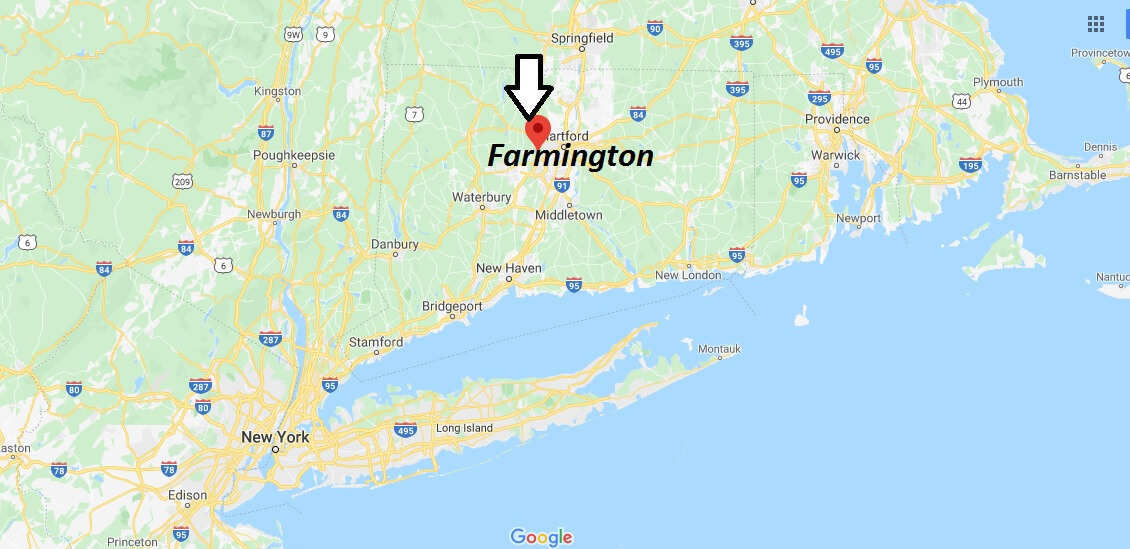 Where is Farmington, Connecticut? What county is Farmington in? Farmington Map