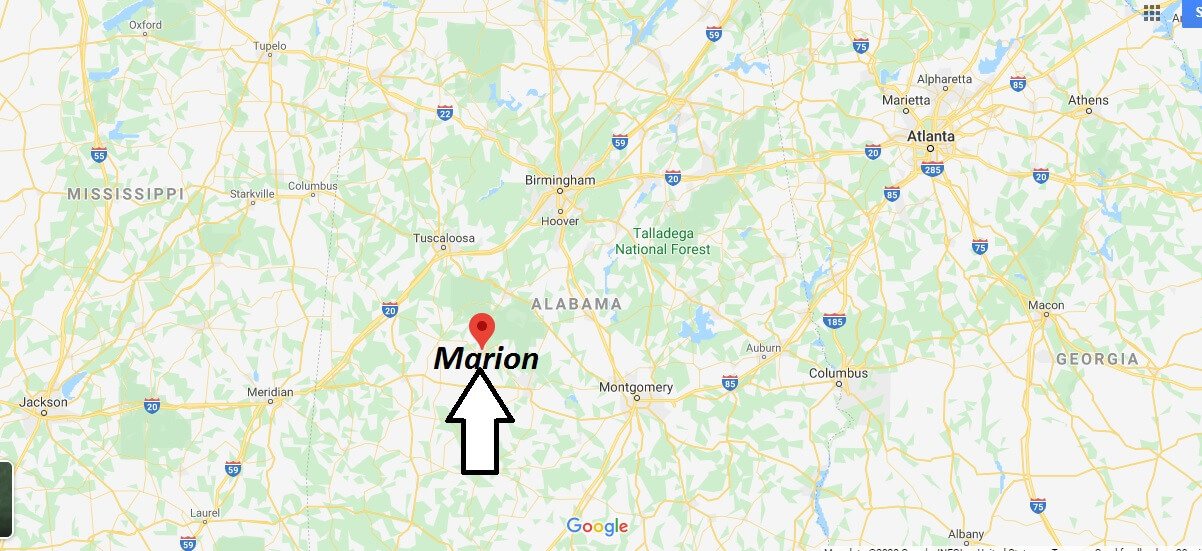 Where is Marion Alabama? What county is Marion in?