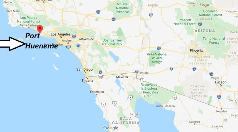 Where is Port Hueneme, California? What county is Port Hueneme in? Port Hueneme Map