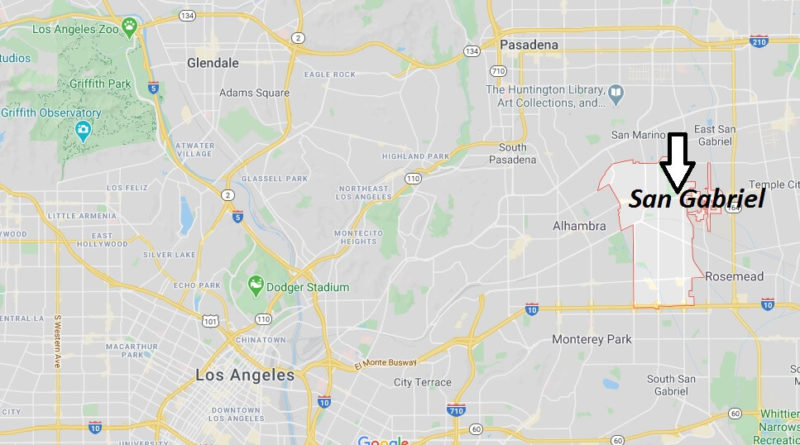 Where is San Gabriel, California? What county is San Gabriel in? San Gabriel Map