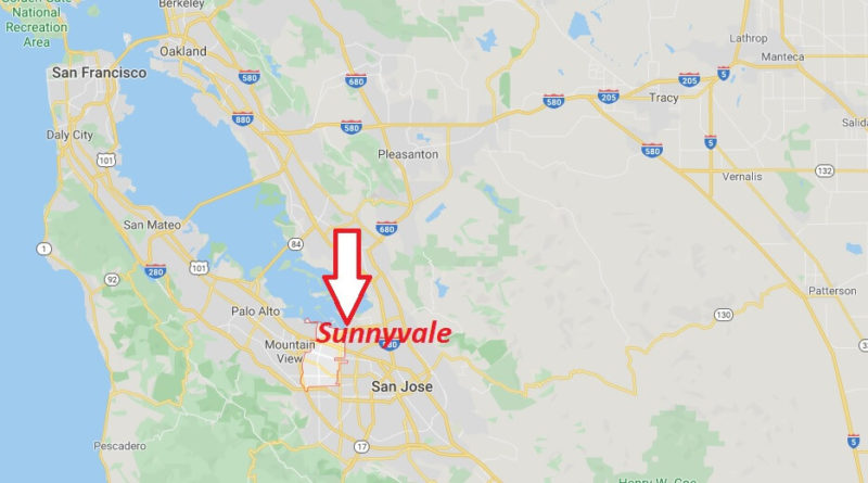 Where is Sunnyvale, California? What county is Sunnyvale in? Sunnyvale Map