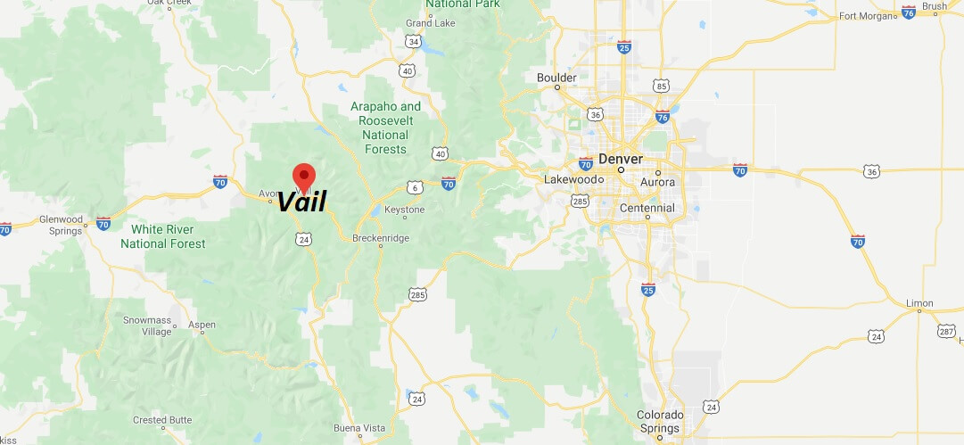 Where is Vail, Colorado? What county is Vail in? Vail Map