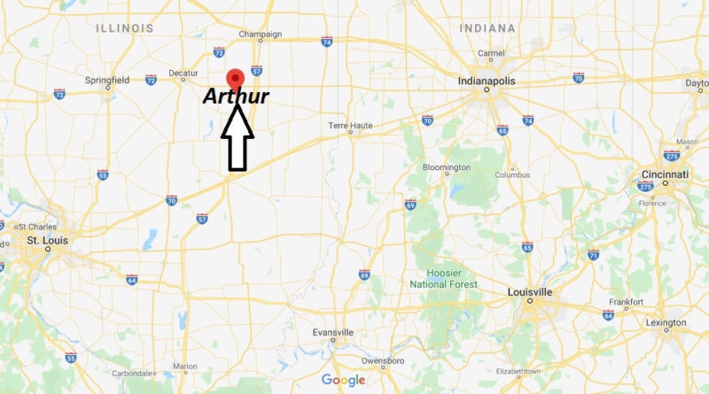 Where is Arthur, Illinois? What county is Arthur in? Arthur Map