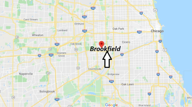 Where is Brookfield, Illinois? What county is Brookfield in? Brookfield Map