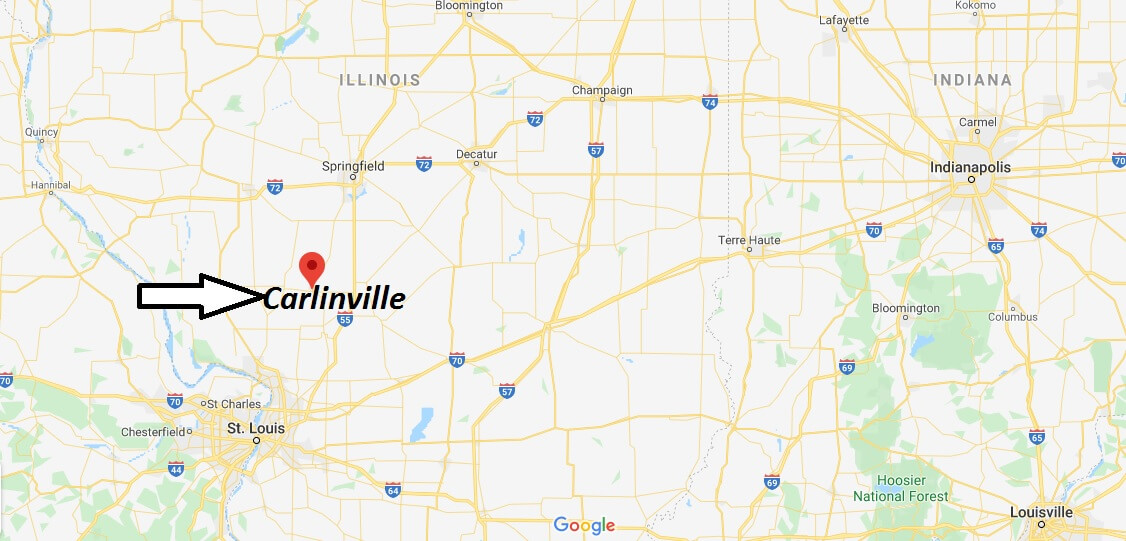 Where is Carlinville, Illinois? What county is Carlinville in? Carlinville Map