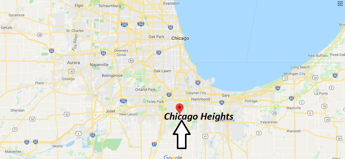 Where is Chicago Heights, Illinois? What county is Chicago Heights in? Chicago Heights Map