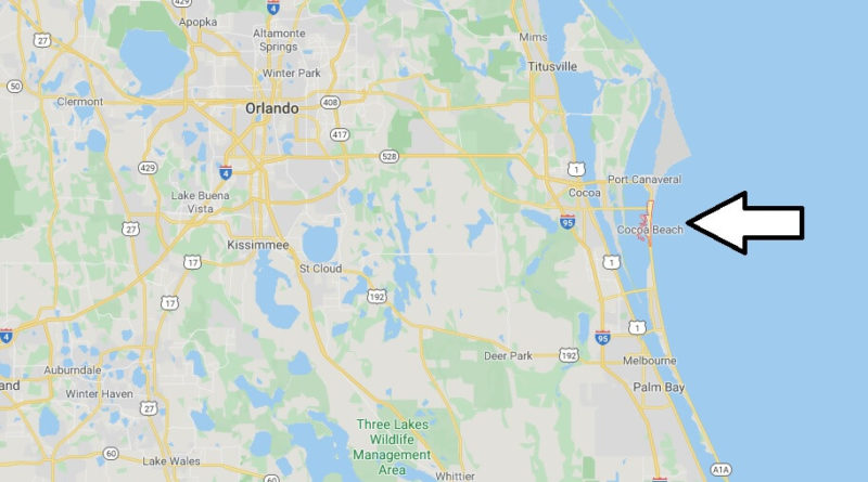 Where is Cocoa Beach, Florida? What county is Cocoa Beach in? Cocoa Beach Map
