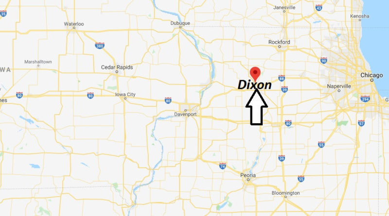Where is Dixon, Illinois? What county is Dixon in? Dixon Map