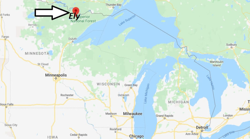 Where is Ely, Minnesota? What county is Ely in? Ely Map