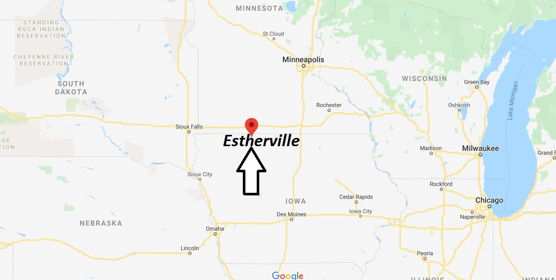 map of estherville iowa Where Is Estherville Iowa What County Is Estherville In map of estherville iowa