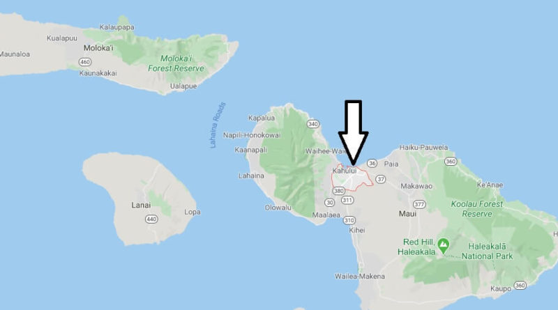Where is Kahului, Hawaii? What county is Kahului in? Kahului Map