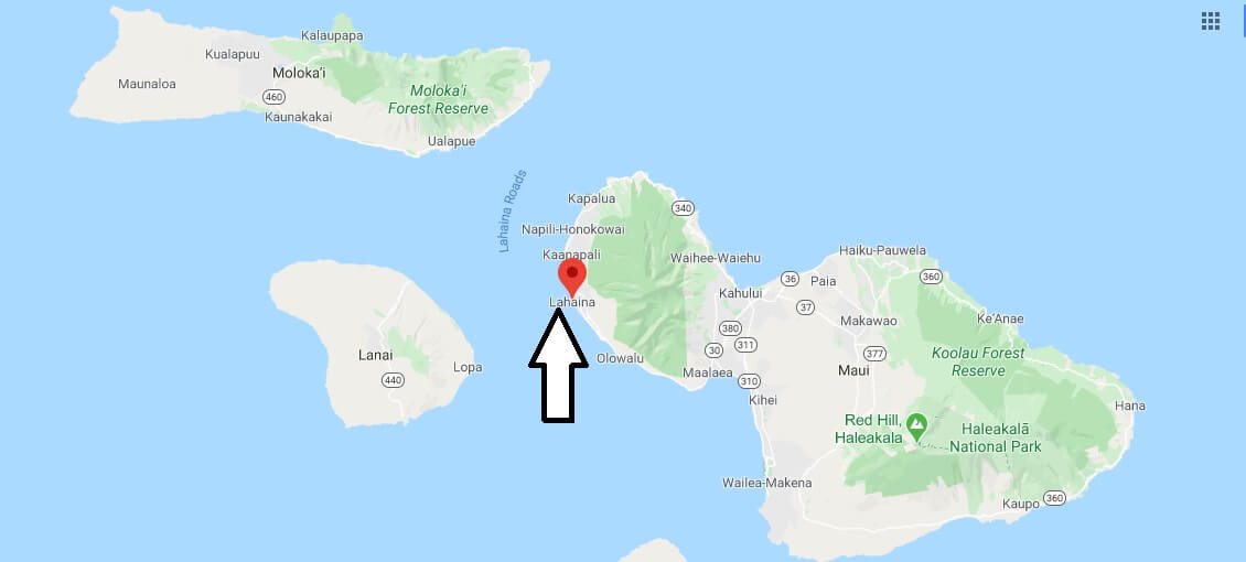 Where is Lahaina, Hawaii? What county is Lahaina in? Lahaina Map
