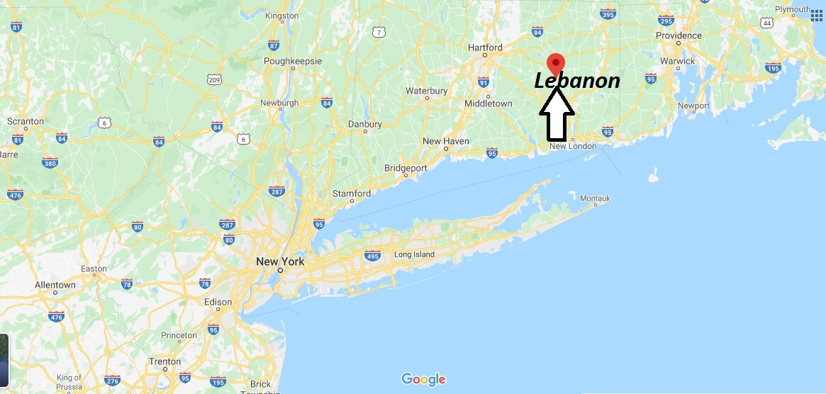 Where is Lebanon, Connecticut? What county is Lebanon in? Lebanon Map