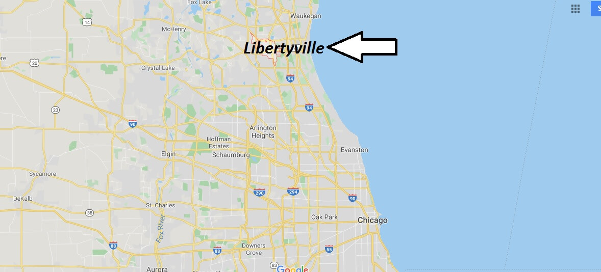 Where is Libertyville, Illinois? What county is Libertyville in? Libertyville Map