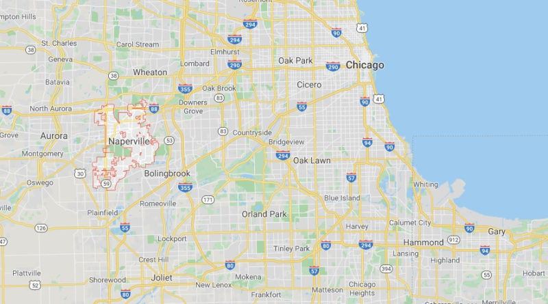 Where is Naperville, Illinois? What county is Naperville in? Naperville Map