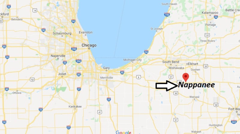 Where is Nappanee, Indiana? What county is Nappanee in? Nappanee Map