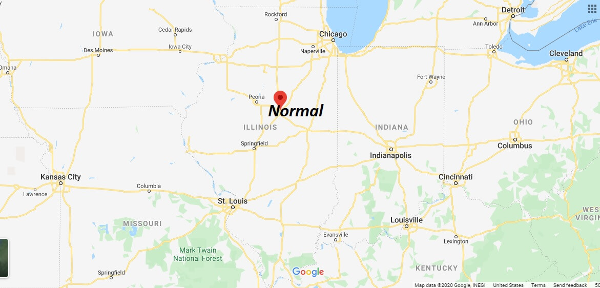 Where is Normal, Illinois? What county is Normal in? Normal Map