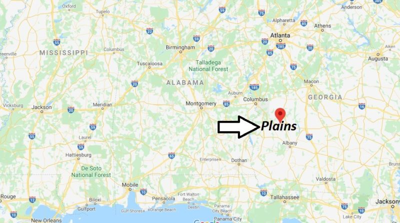 Where is Plains, Georgia? What county is Plains in? Plains Map