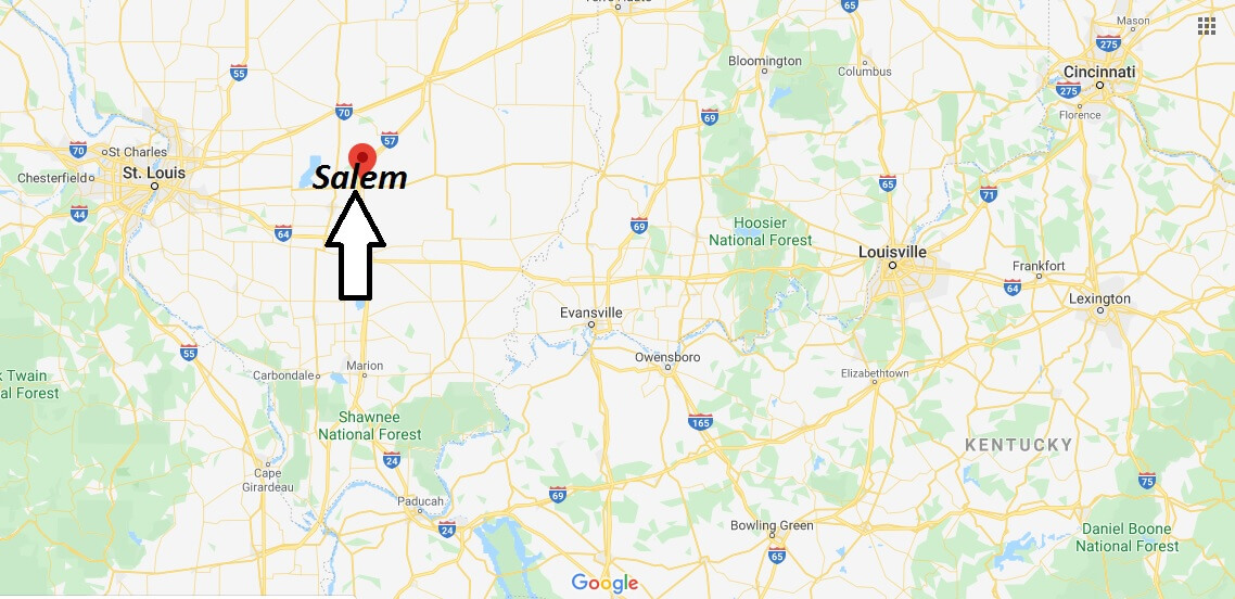 Where is Salem, Illinois? What county is Salem in? Salem Map