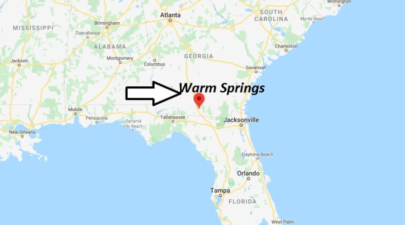 Where is Warm Springs, Georgia? What county is Warm Springs in? Warm Springs Map